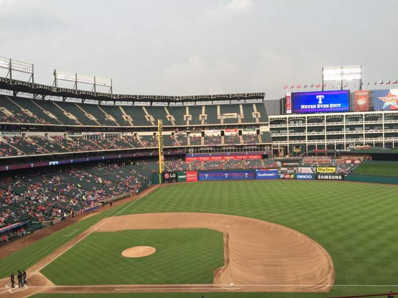 Seating view for Globe Life Park in Arlington Section 233 Row 5 Seat 10