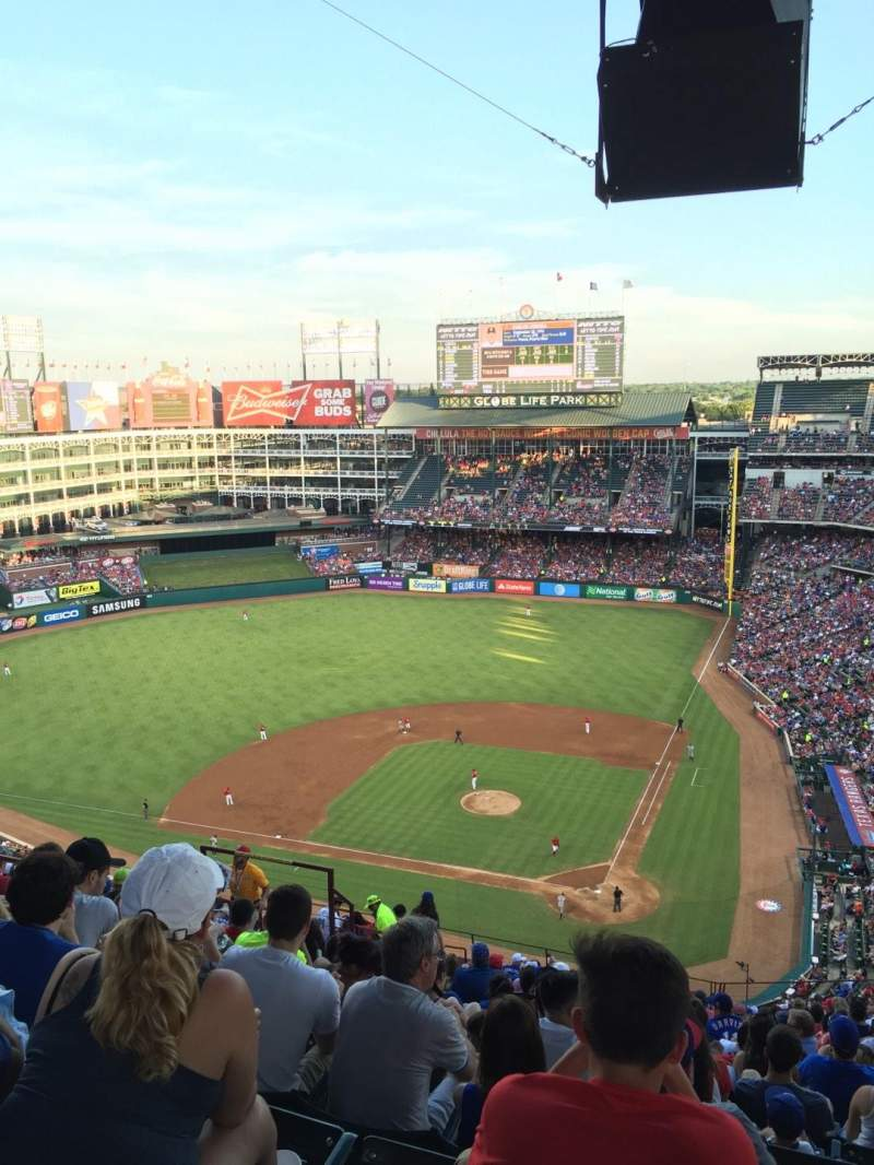 Seating view for Globe Life Park in Arlington Section 323 Row 22 Seat 10