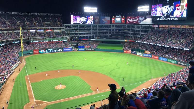 Seating view for Globe Life Park in Arlington Section 330 Row 12 Seat 7