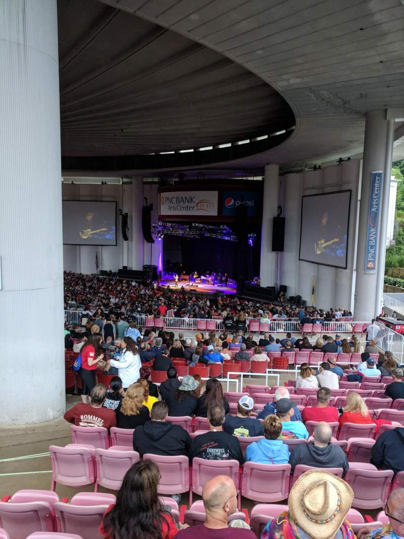 Seating view for PNC BANK ARTS CENTER Section CITI DECK , SOUTH DECK