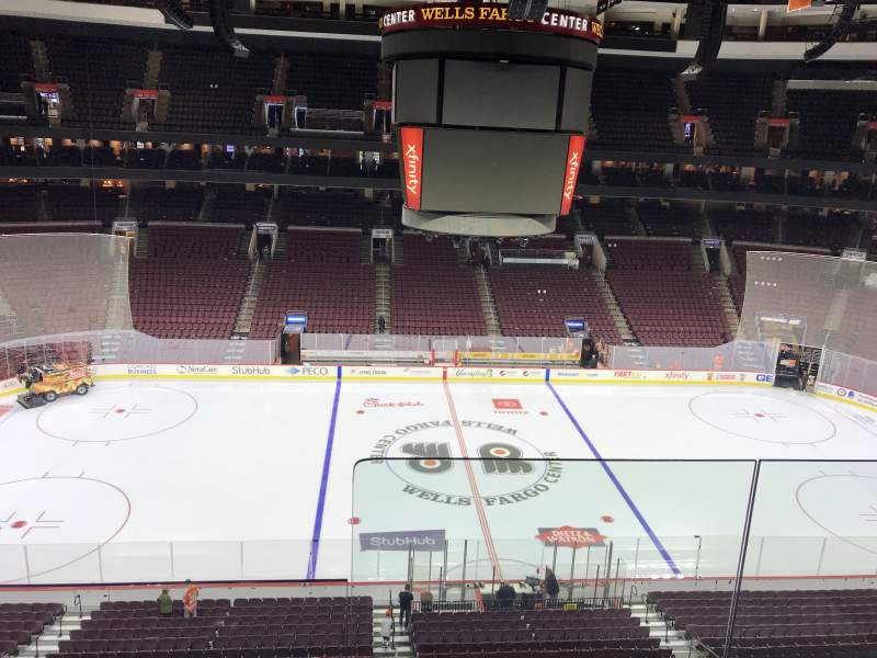 Seating view for Wells Fargo Center Section 212 Row 2 Seat 19