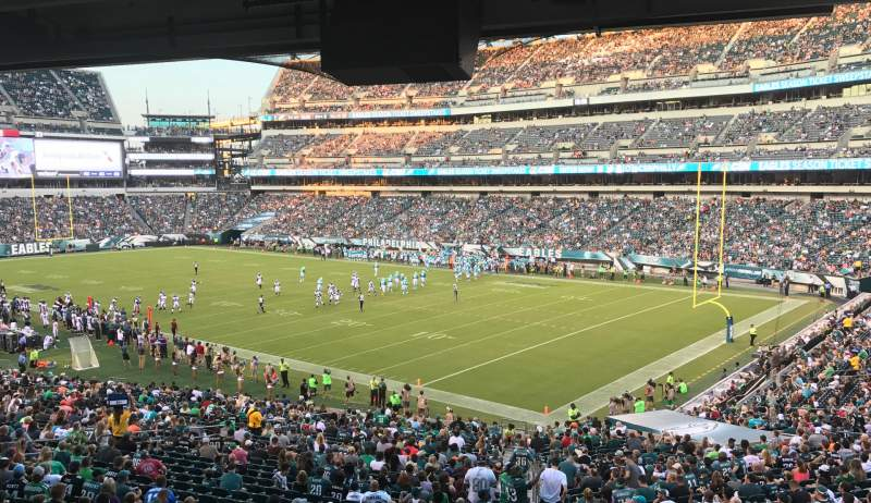 Seating view for Lincoln Financial Field Section LS72 Row 1 Seat 1