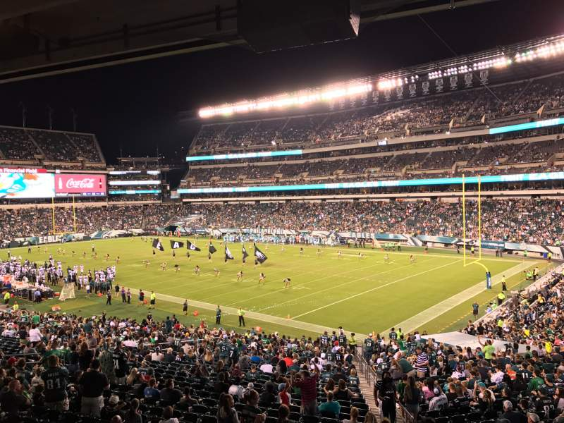 Seating view for Lincoln Financial Field Section LS72 Row 3 Seat 5