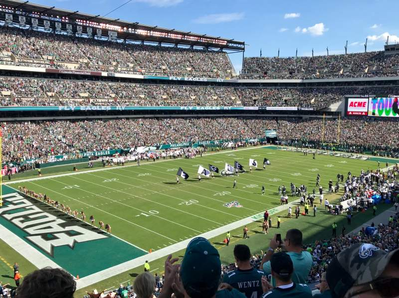 Seating view for Lincoln Financial Field Section C35 Row 5 Seat 16