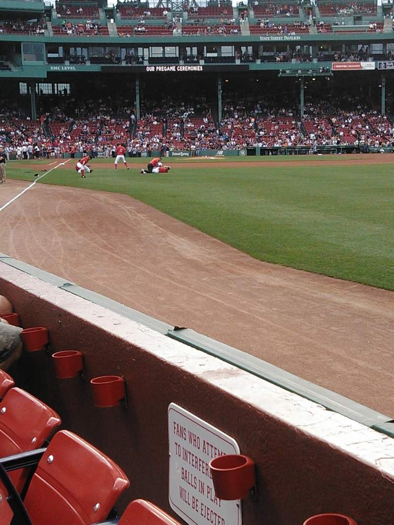 Seating view for Fenway Park Section Right Field Box 4 Row G Seat 8