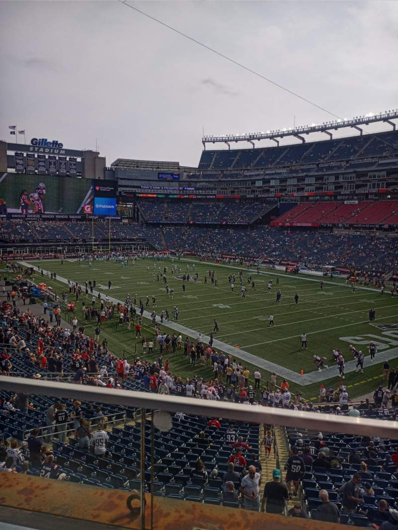 Seating view for Gillette Stadium Section 203 Row 1 Seat 1-4