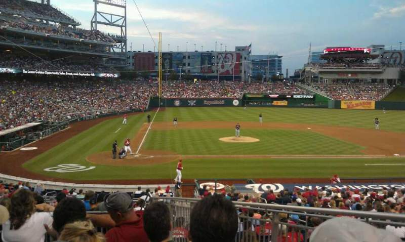 Seating view for Nationals Park Section 126 Row P Seat 2