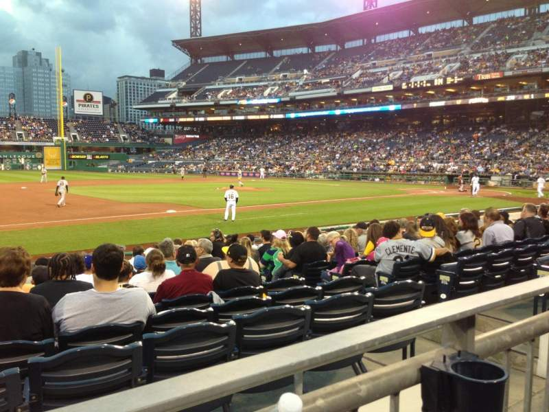 Seating view for PNC Park Section 125 Row A Seat 10