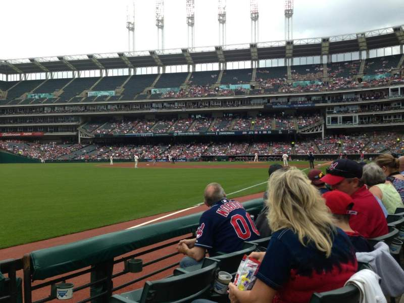 Seating view for Progressive Field Section 175 Row C Seat 1