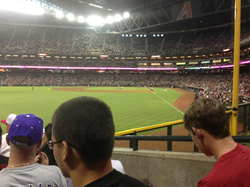 Seating view for Chase Field Section 138 Row 22 Seat 11