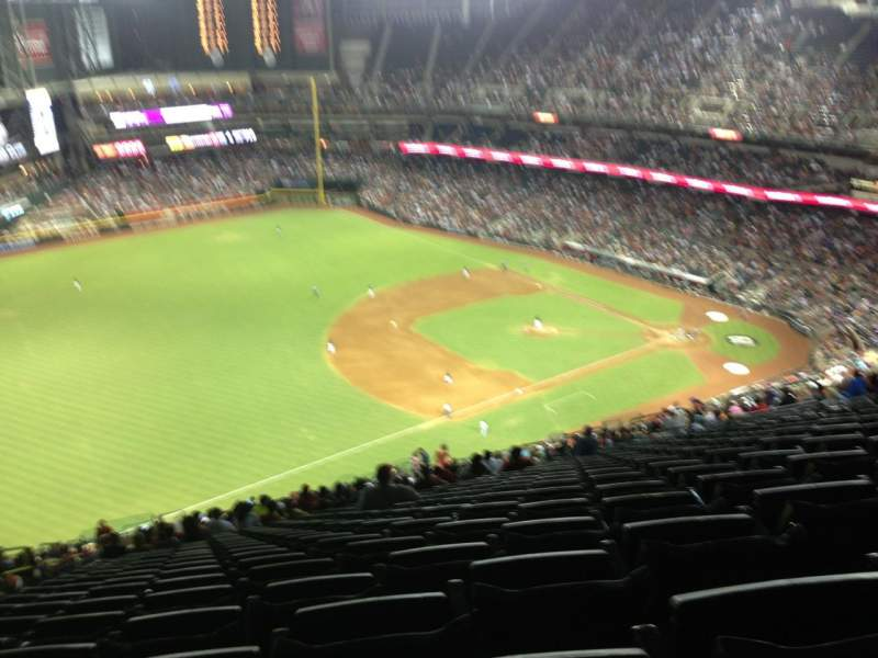 Seating view for Chase Field Section 327 Row 40 Seat 16