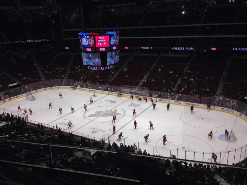 Seating view for Gila River Arena Section 228 Row B Seat 1