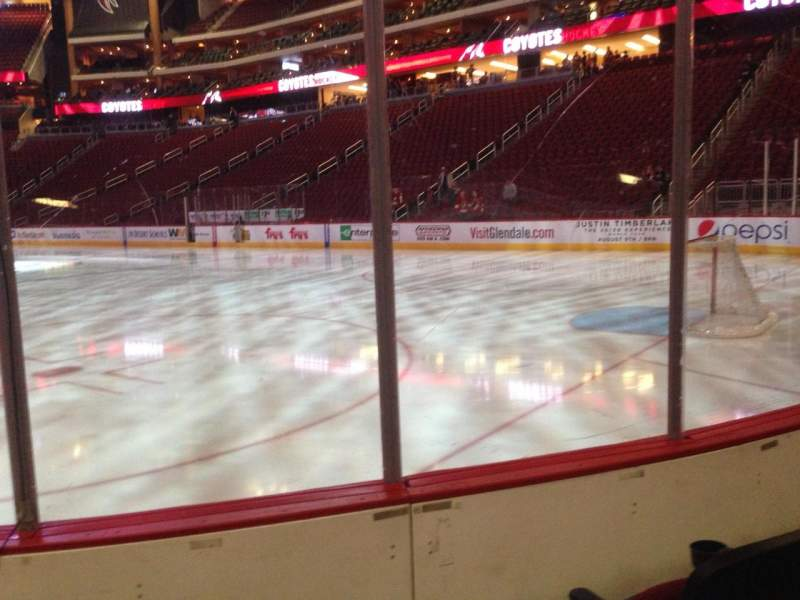Seating view for Gila River Arena Section 119 Row C Seat 4