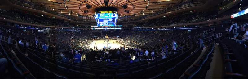 Seating view for Madison Square Garden Section 112 Row 17 Seat 11