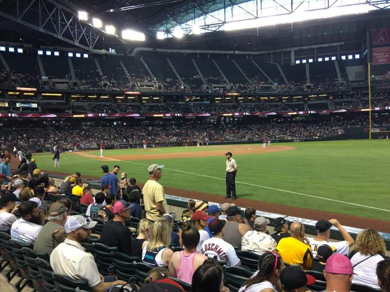 Seating view for Chase Field Section 111 Row 7 Seat 3