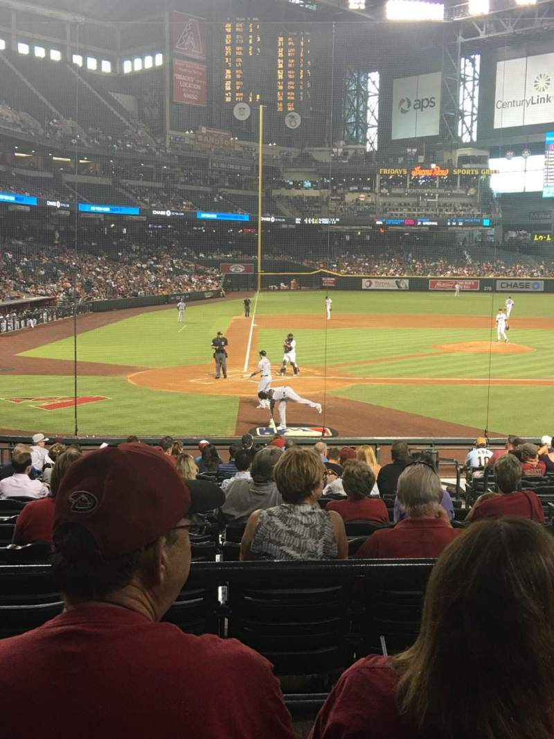 Seating view for Chase Field Section 118 Row 23 Seat 14