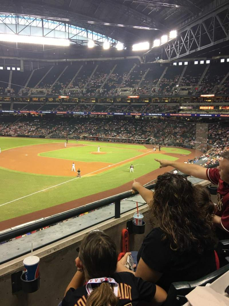 Seating view for Chase Field Section 217 Row 2 Seat 18