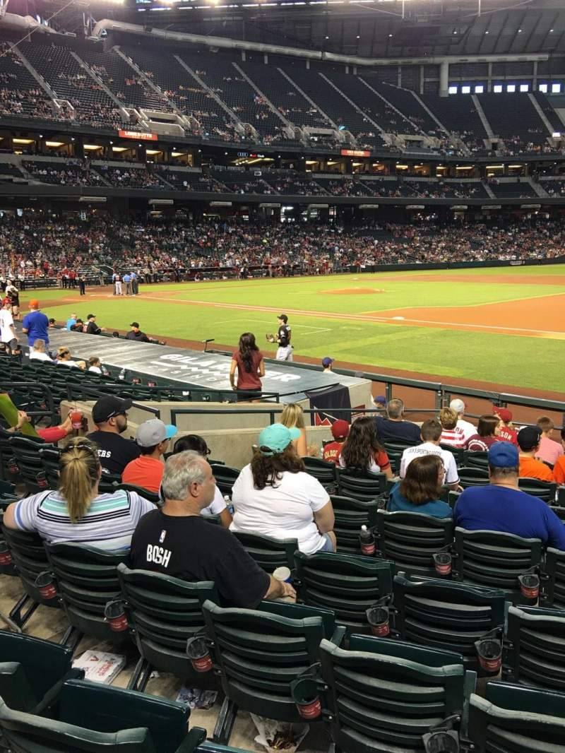 Seating view for Chase Field Section 114 Row 14 Seat 5