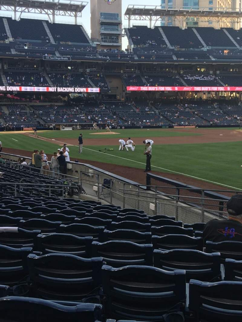 Seating view for PETCO Park Section 121 Row 20 Seat 18