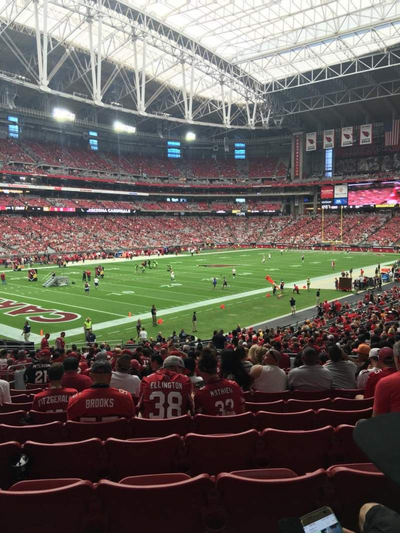 Seating view for University of Phoenix Stadium Section 136 Row 32 Seat 11