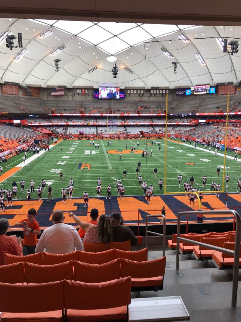 Seating view for Carrier Dome Section 248 Row I Seat 2