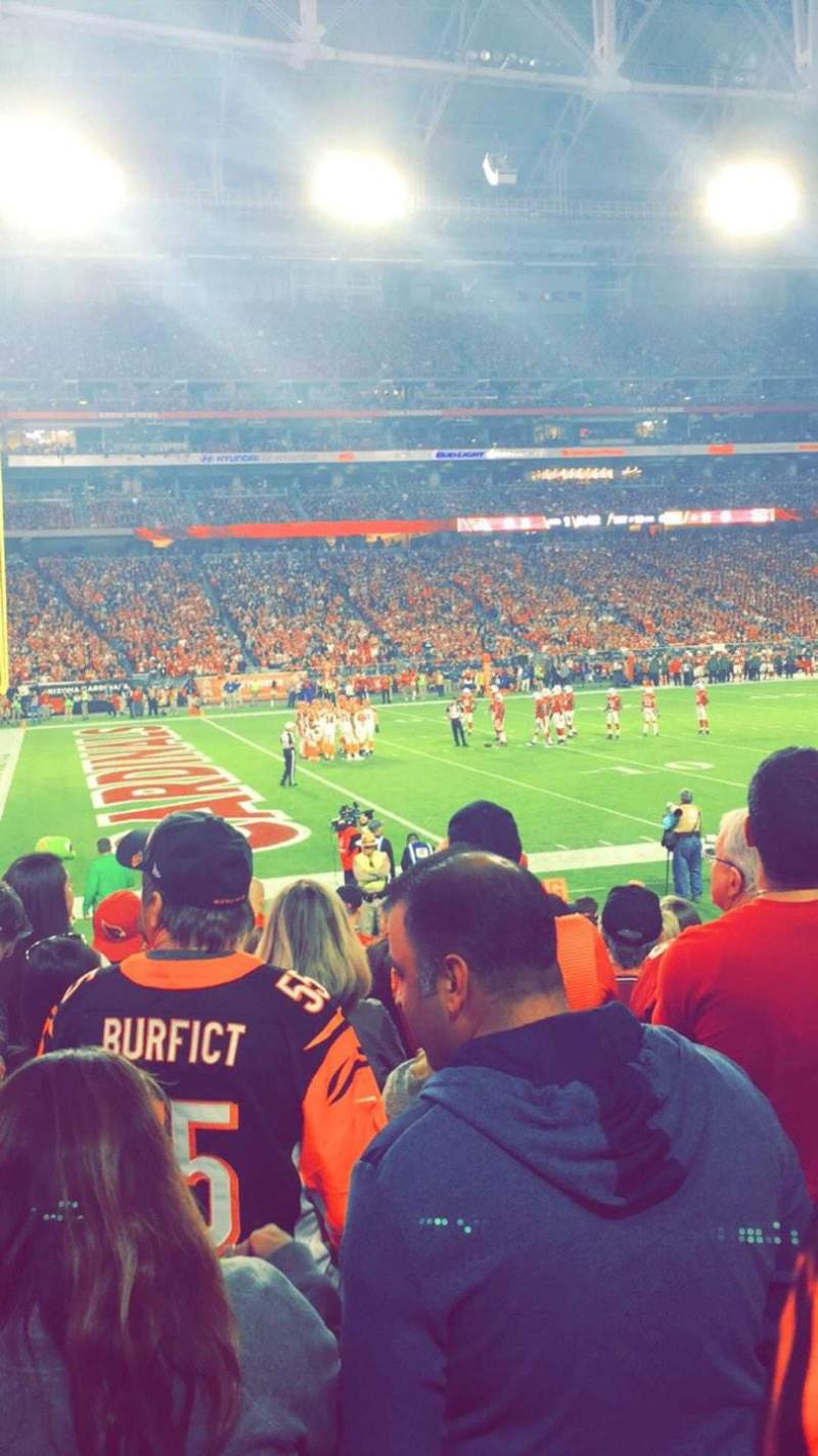 Seating view for State Farm Stadium Section 135 Row 11 Seat 10