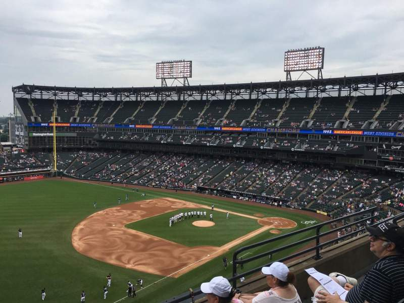 Seating view for Guaranteed Rate Field Section 548 Row 5 Seat 6