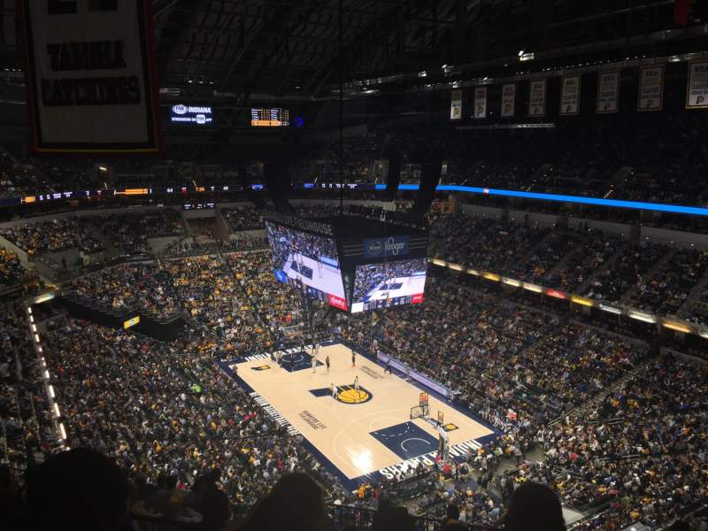 Seating view for Bankers Life Fieldhouse Section 220 Row 12 Seat 4
