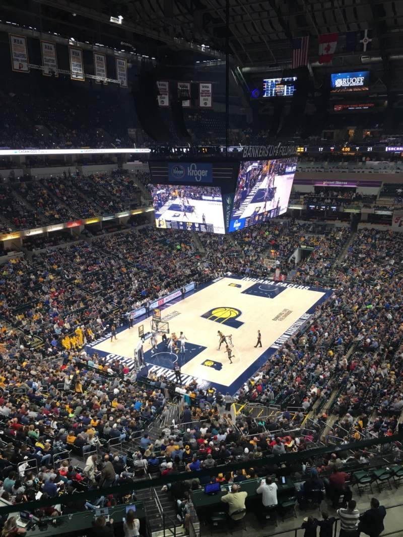 Seating view for Bankers Life Fieldhouse Section 229 Row 1 Seat 16