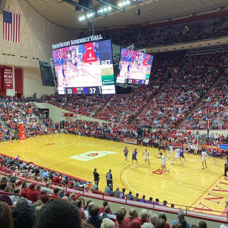 Seating view for Simon Skjodt Assembly Hall Section B Row 13 Seat 109