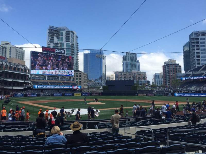 Seating view for PETCO Park Section 101 Row 18 Seat 17