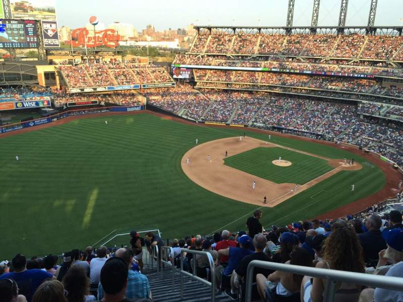 Seating view for Citi Field Section 527 Row 15 Seat 1