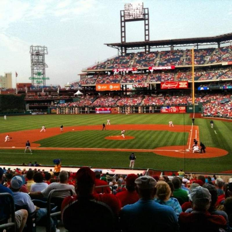 Seating view for Citizens Bank Park Section 127 Row 33 Seat 13