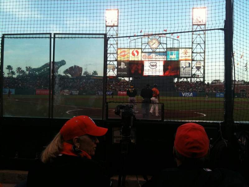 Seating view for AT&T Park Section 115 Row 3 Seat 3
