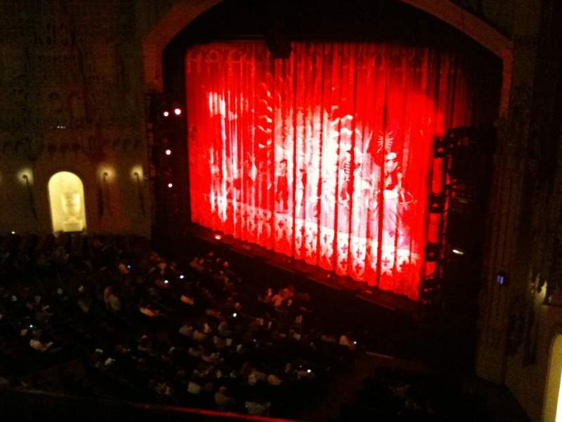 Seating view for Orpheum Theatre (San Francisco) Section Balcony R Row AA Seat 8