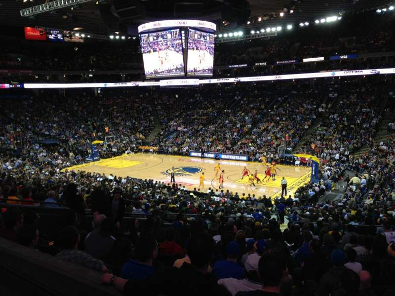 Seating view for Oracle Arena Section C13