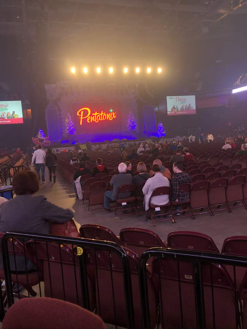 Seating view for Mohegan Sun Arena Section 22 Row D Seat 4