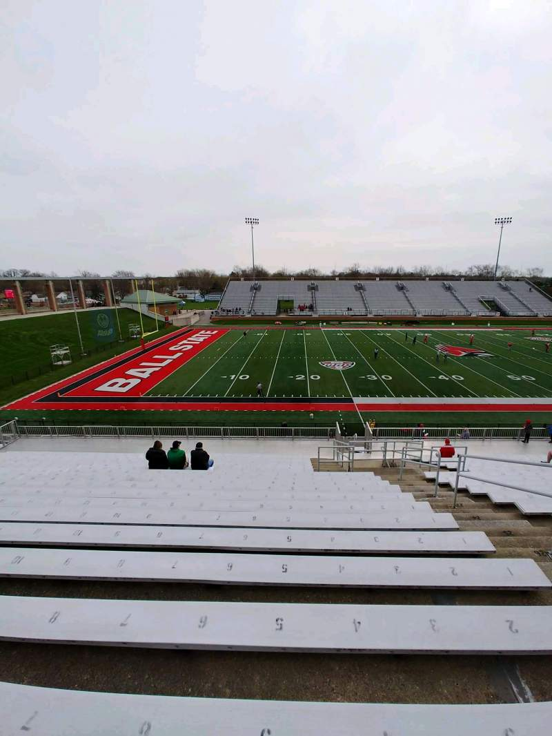 Seating view for Scheumann Stadium Section F Row 30 Seat 4