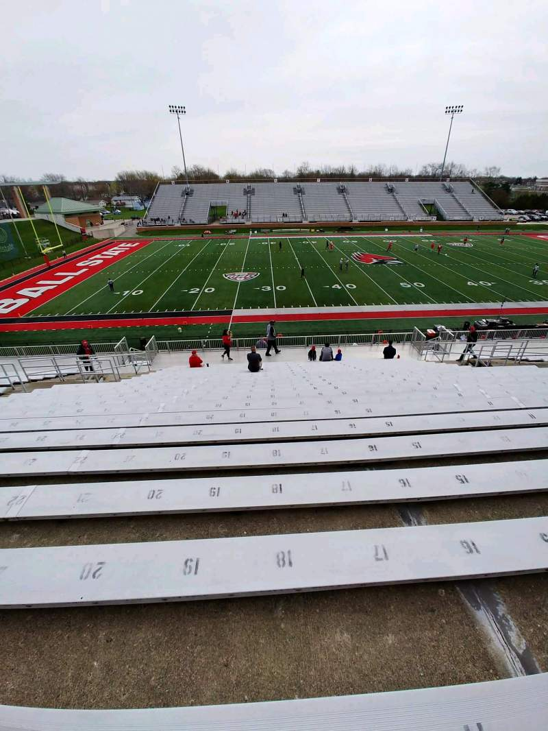 Seating view for Scheumann Stadium Section E Row 30 Seat 19
