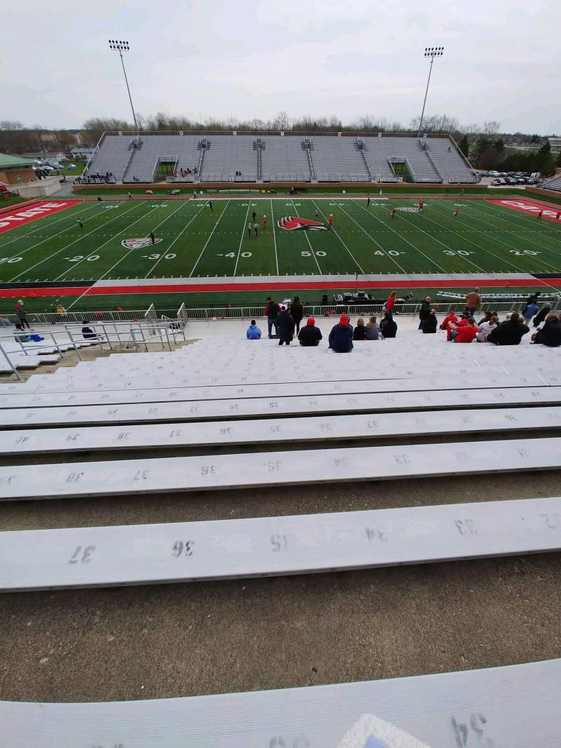 Seating view for Scheumann Stadium Section D Row 30 Seat 28