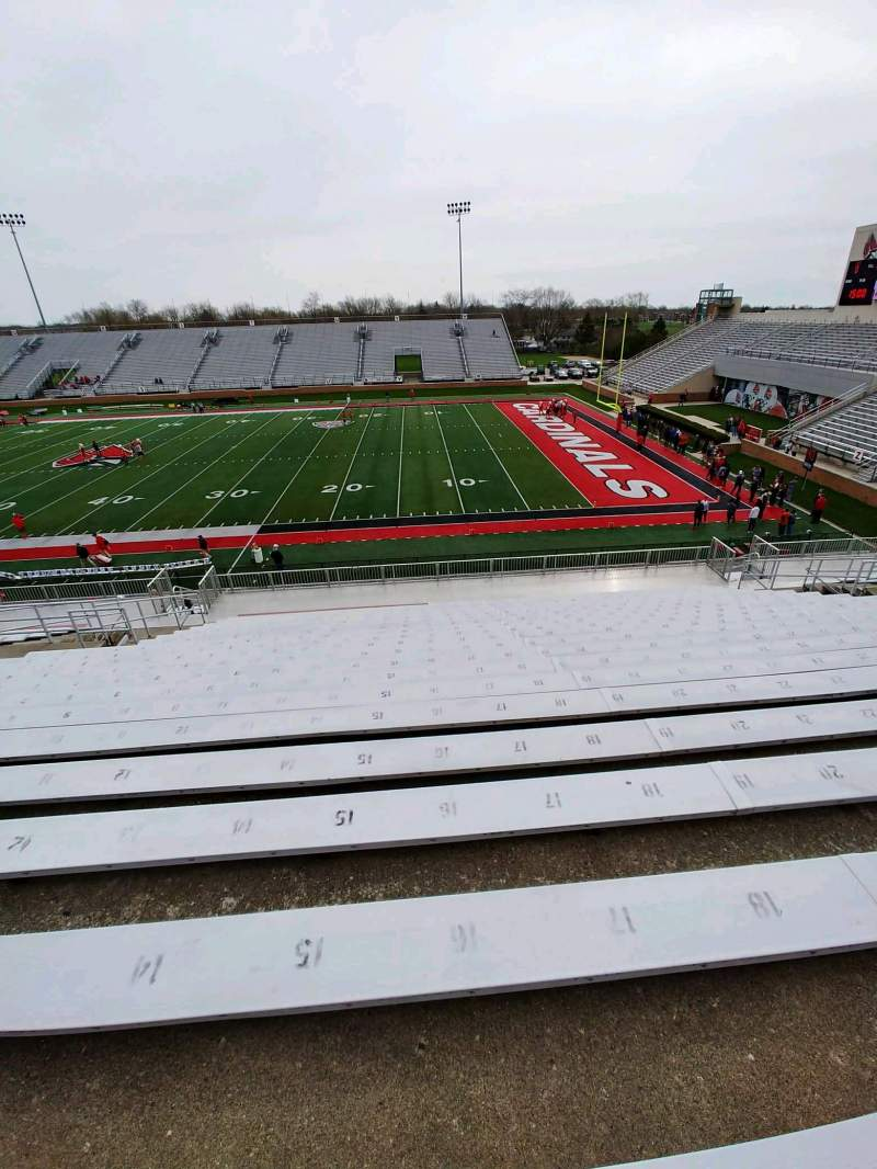 Seating view for Scheumann Stadium Section B Row 30 Seat 16