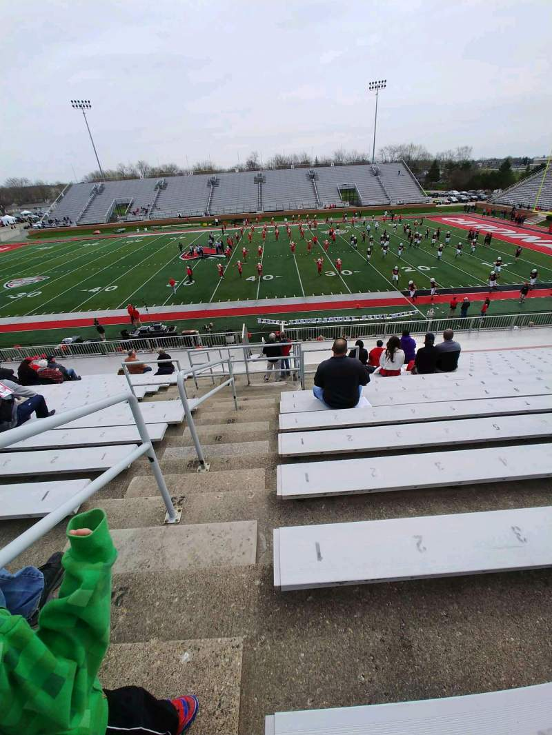 Seating view for Scheumann Stadium Section c Row 26 Seat 1
