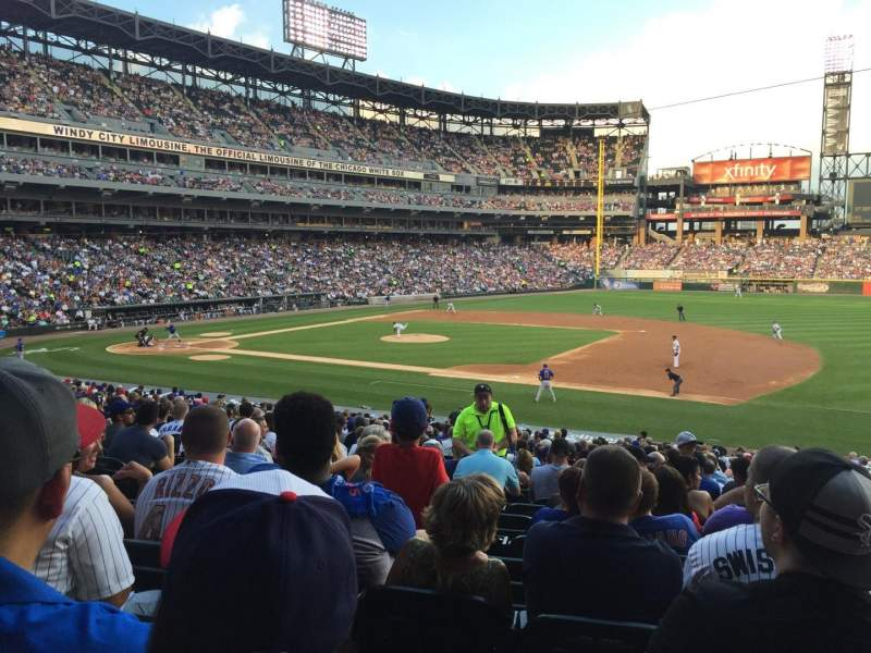 Seating view for Guaranteed Rate Field Section 221 Row 30 Seat 4
