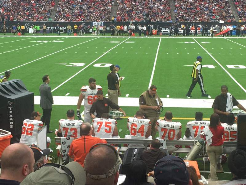 NRG Stadium, section: 128, row: F, seat: 1