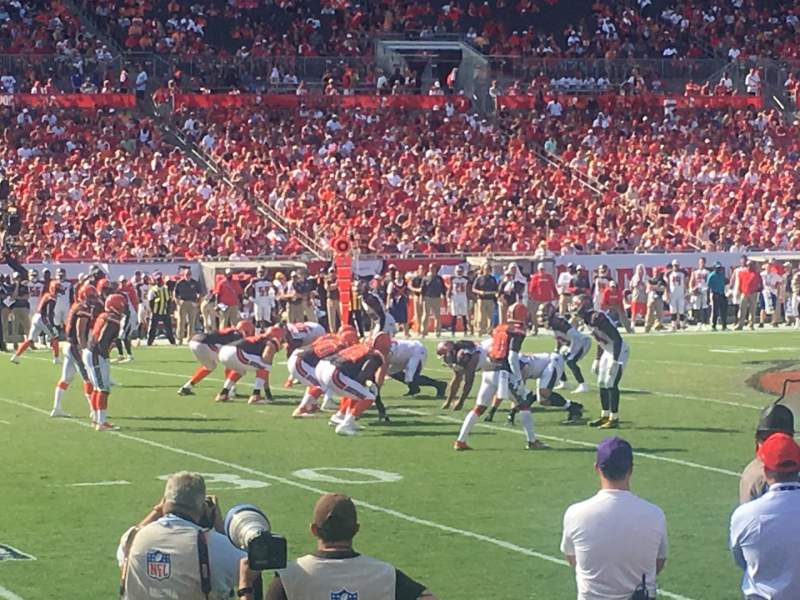 Seating view for Raymond James Stadium Section 133 Row A Seat 24