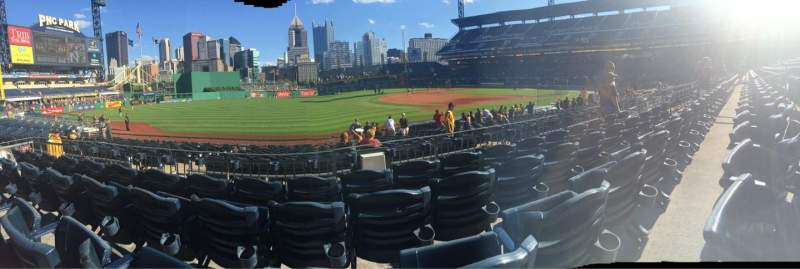 Seating view for PNC Park Section 127 Row D Seat 16