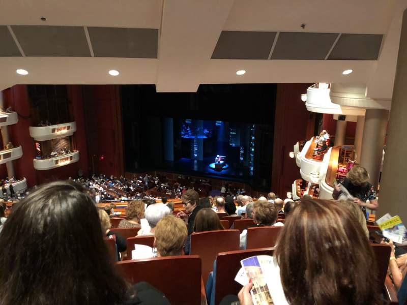 Seating view for Au-Rene Theatre at the Broward Center Section Mezzanine R Row Stool Seating Seat 2