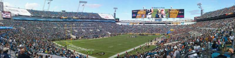Seating view for EverBank Field Section 245 Row D Seat 5