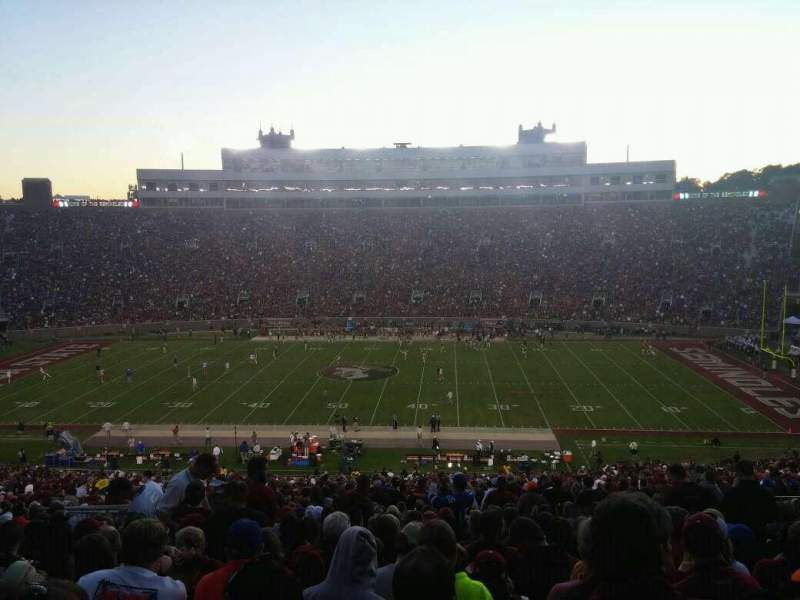 Seating view for Bobby Bowden Field at Doak Campbell Stadium Section 9 Row 75 Seat 22