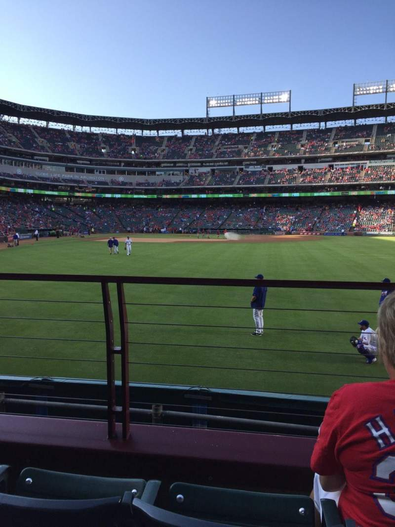 Seating view for Globe Life Park in Arlington Section 46 Row 3 Seat 16